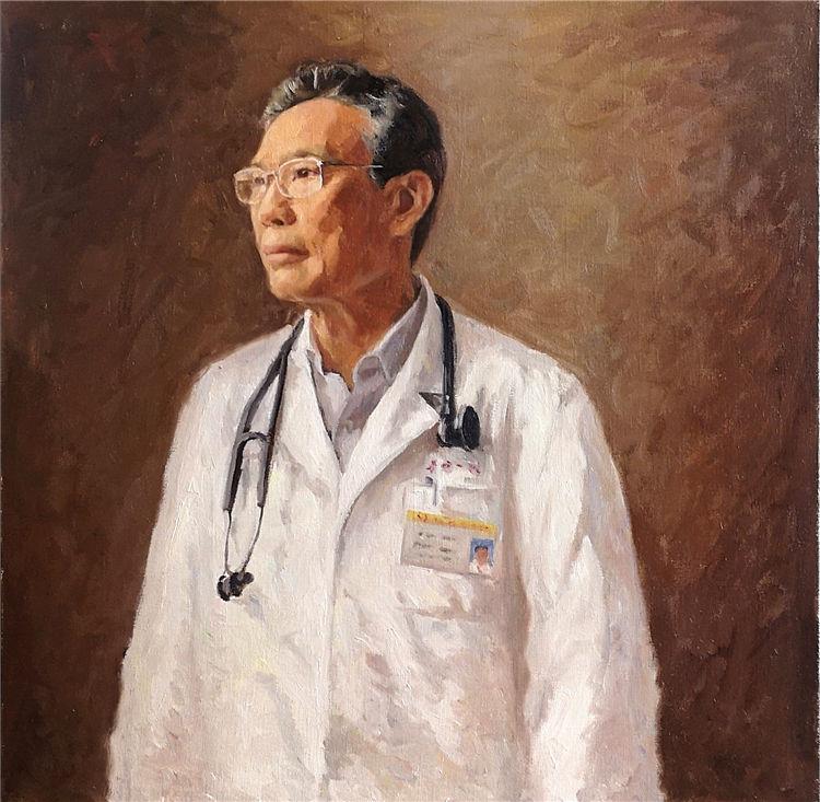 《疾風知勁草——致敬鐘南山院士》徐乙寧 油畫