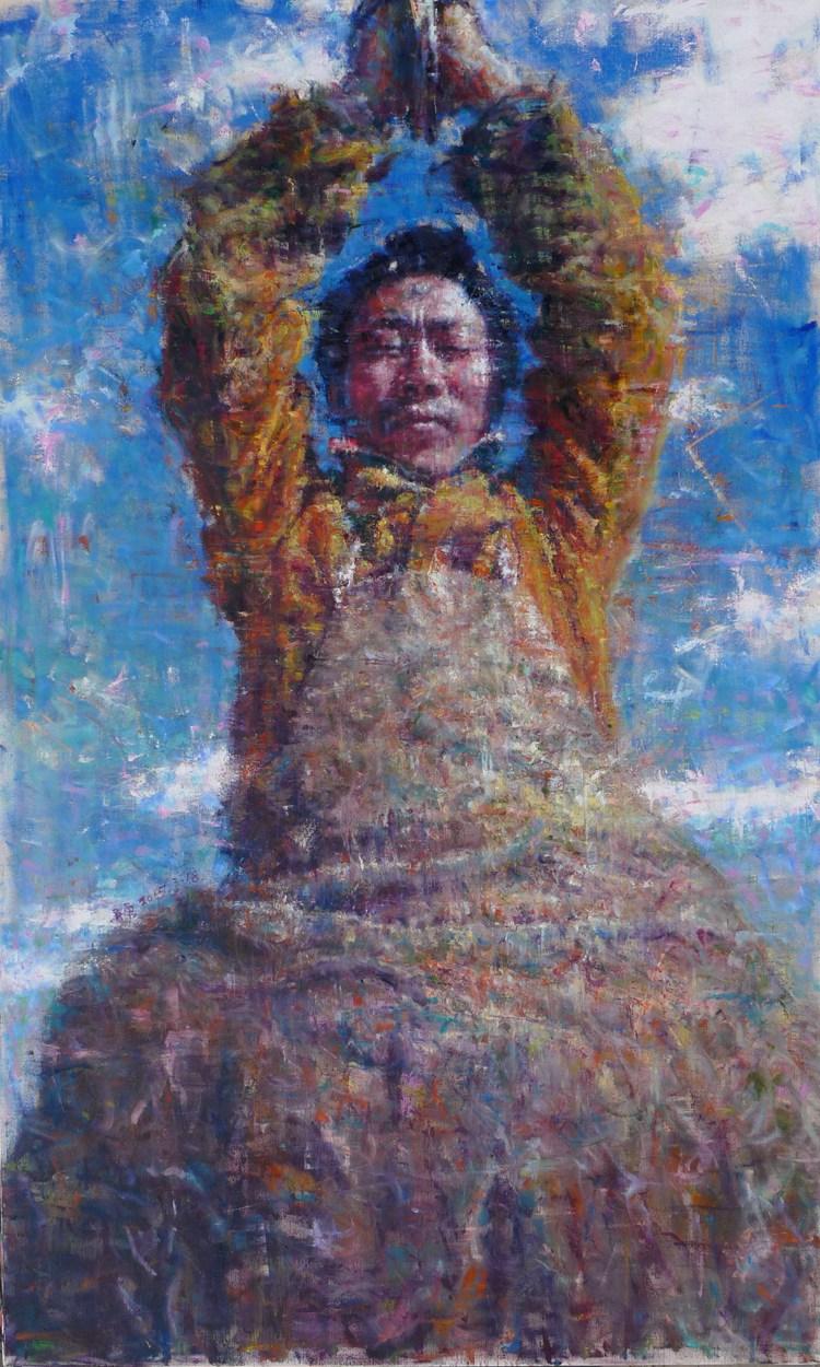 《眾志成城—為祖國祈禱》吳勇  油畫