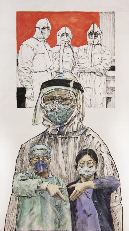 《2020我们的故事》邵权  中国画