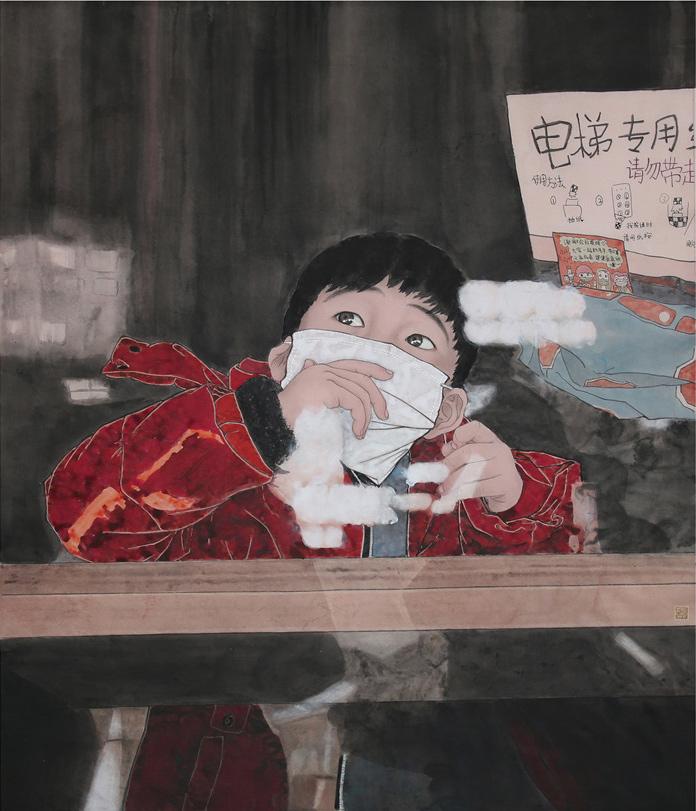 《祝你平安》 王振勇 中國畫