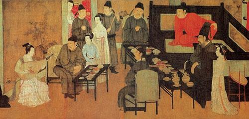 《韓熙載夜宴圖》中的分餐圖(資料圖)