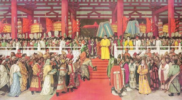 貞觀盛會(油畫) 孫景波 李丹 儲蕓聲