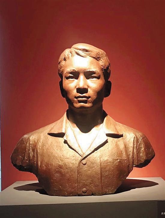 劉開渠 男青年胸像 68×68×25cm 玻璃銅 1978年 創作于北京
