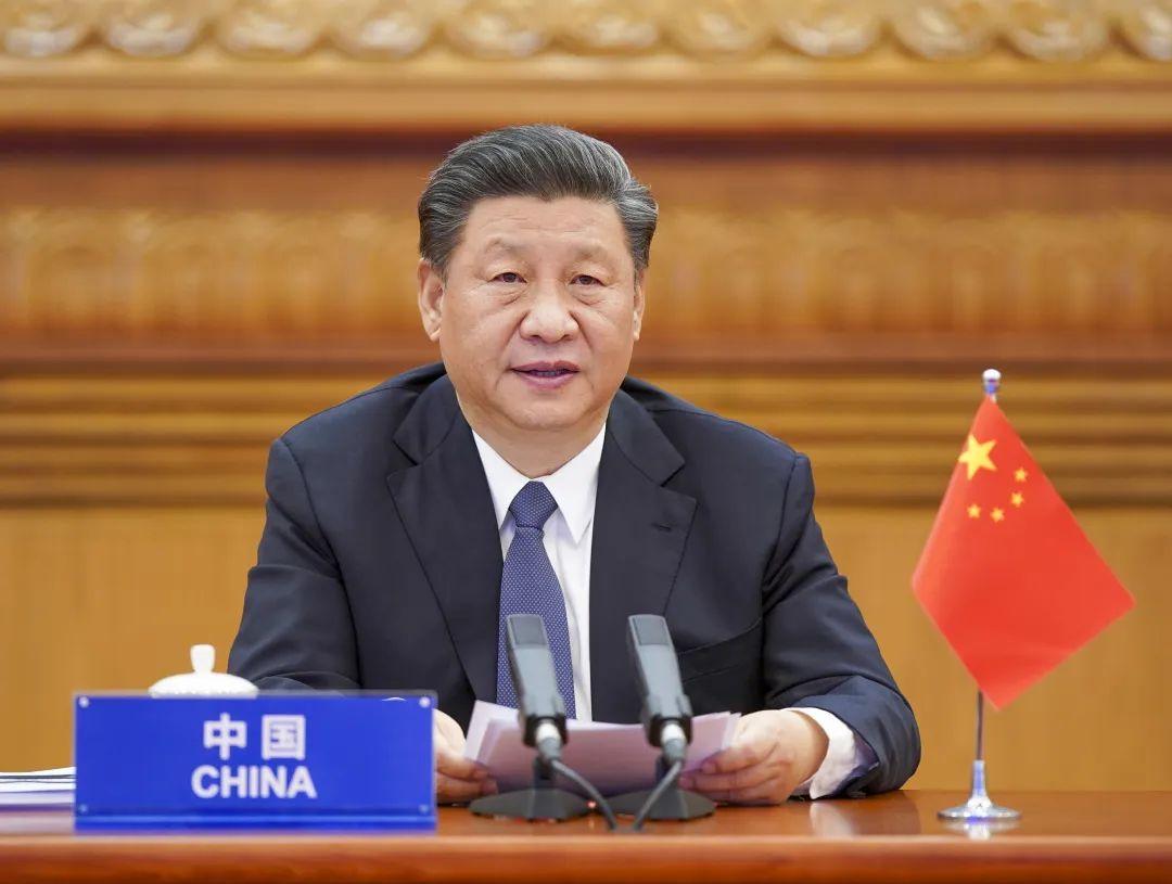 3月26日,国家主席习近平在北京出席二十国集团领导人应对新冠肺炎特别峰会并发表题为《携手抗疫 共克时艰》的重要讲话。新华社记者李学仁 摄