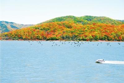 红石湖风景区位于长白山麓,地处吉林省桦甸市红石砬子镇区域,松花江上