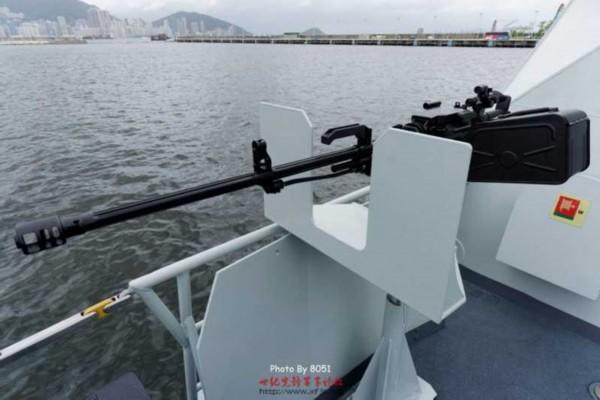 高清:056舰装两挺89式重机枪火力再提升