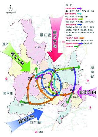 贵州铜仁景区地图