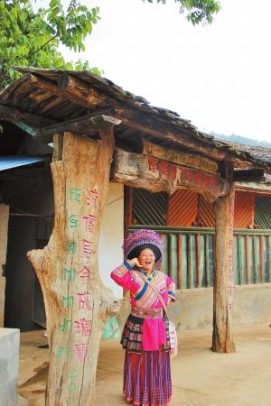 傈僳族文化传承坊为土木结构