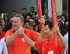 Le relais de la torche est arrivé à Jiangmen