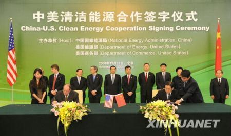 ChinesevicepremierLiKeqianghasattendedthesigningceremonyofaSino-U.S.cleanenergyagreementinBeijing.