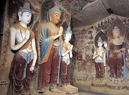 "The Buddhist caves featured in ""Dunhuang"", are the Mogao grottos. 24 of the caves have never previously been opened to the public, and the show is promising to take the audience inside to view the many treasures within."