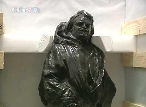 Seven genuine sculpture pieces made by the renowned late artist Auguste Rodin, have arrived in Shanghai for a museum exhibition during the Shanghai World Expo.