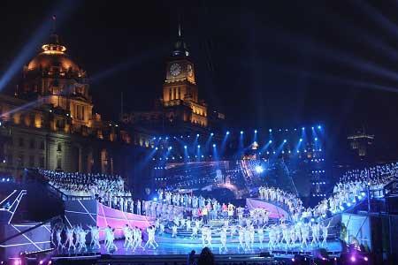 A countdown extravaganza was held in Shanghai Tuesday night to mark the occasion.