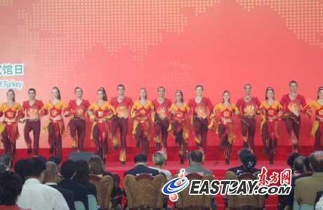 Turkish National Pavilion Day opened at the 2010 World Expo in Shanghai on Sunday morning.