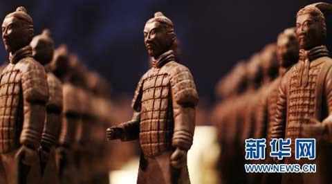 The most jaw-dropping display is the terra cotta army, one fifth its genuine size, and all made with dark chocolate.