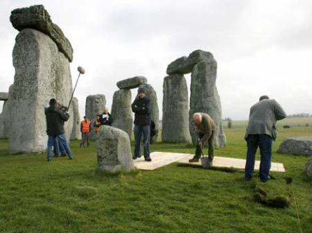 Archaeologists have discovered a wooden version of the British prehistoric monument Stonehenge, nearby the original site.(File Photo)