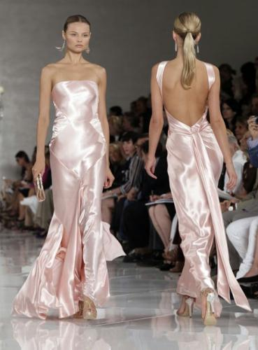 a ethereal and elegant Spring 2012 collection with red carpet-ready evening gowns. And designer Ralph Lauren proves