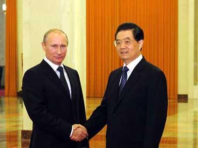 Rencontre entre Hu Jintao et Vladimir Poutine