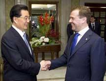 Le président chinois rencontre son homologue russe