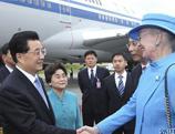 Le président chinois Hu Jintao en visite officielle au Danemark