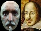Une reproduction du visage de Shakespeare en 3D