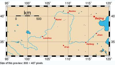 Map Of China Yellow River.Yellow River Is The Second Longest River In China Cctv International