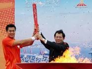 Огонь Азиатских игр в городе Шаньтоу
