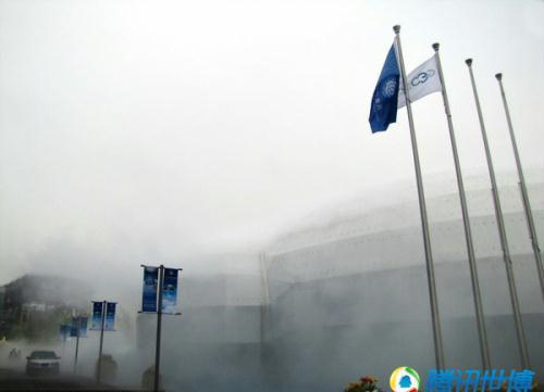 The Meteo World Pavilion, funded by the United Nation's World Meteorological Organization, is the first Meteorology Pavilion in the history of the World Expo.