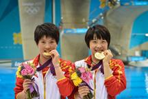 China wins women´s 10m synchronized platform