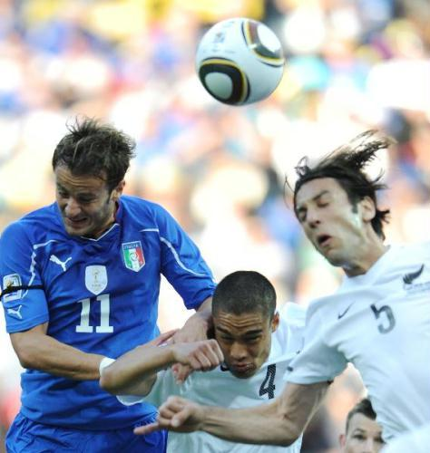 Defending champion Italy was held to another 1-1 draw Sunday, this time by New Zealand, in the latest World Cup surprise.