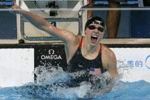 16-year-old Ledecky(USA) smashes world record of 1500m free style