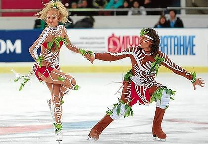 The ice dancing event at the Winter Olympics is generating lots of heat. The controversy is over the costumes worn by Russia's champions. Many find their aboriginal-themed costumes offensive.