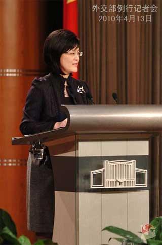 JiangYu,FMspokeswoman