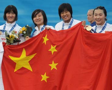 梦幻中国队4X200自由泳接力夺金破纪录