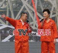 """蔡明潘长江现场""""跑马圈地"""""""