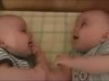 超搞笑的大笑双胞胎宝宝