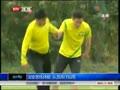 国安苦练体能  队员挥汗如雨