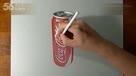 牛人3D绘画灌装可口可乐  -