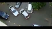 醉了!停车场的两个女司机