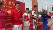 杨君帅在2014中国保定国际空竹艺术节四项全能颁奖仪式上