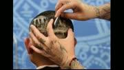 国外理发师仅凭一把电动剃刀,在客人头上剃出了达芬奇名画