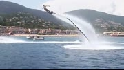 超壮观:世界上最大的水上喷气背包飞行编队