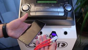 GXYKIT T658 车载蓝牙免提MP3播放器车载充电器FM发射器语音播报导航扩音