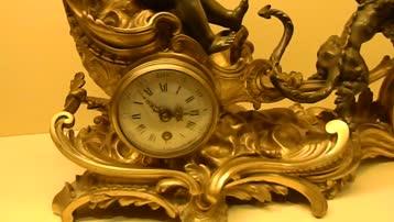 北京维修欧洲铜座钟古董座钟