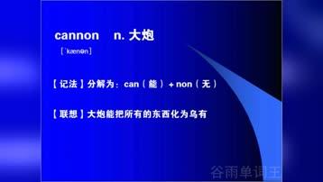 初中生英语单词联想巧记词典中学生必记的英语单词初中单词背诵cannon