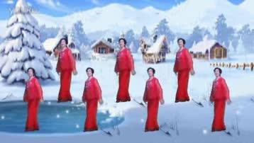 天水市罗玉小区焦老师原创舞蹈;草原飘起雪花,正面