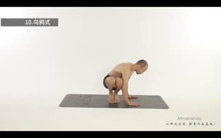 瑜伽初级视频教程:正位乌鸦式
