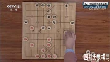 2017年全国象棋甲级联赛 杭州环境集团王天一VS上海金外滩赵玮