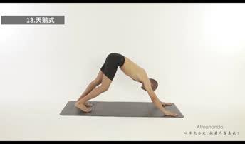初级瑜伽视频教程:天鹅式