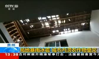 4月14日 13点新闻 贵州 局地暴雨冰雹 城市内涝农作物受灾
